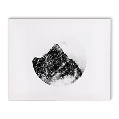 Varick Gallery 'Mountain' Photographic Print on Canvas in Black and White; 24'' H x 36'' W