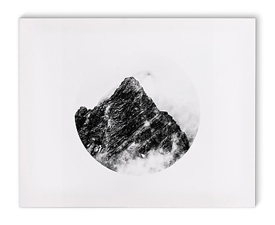 Varick Gallery 'Mountain' Photographic Print on Canvas in Black and White; 16'' H x 20'' W