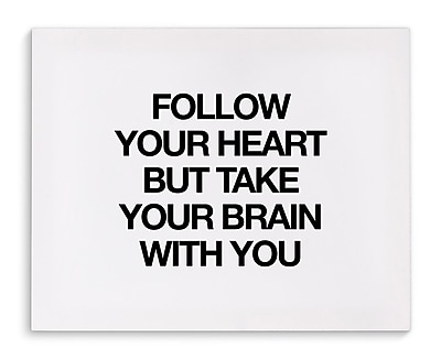 Varick Gallery 'Follow Your Heart' Textual Art on Canvas; 24'' H x 36'' W