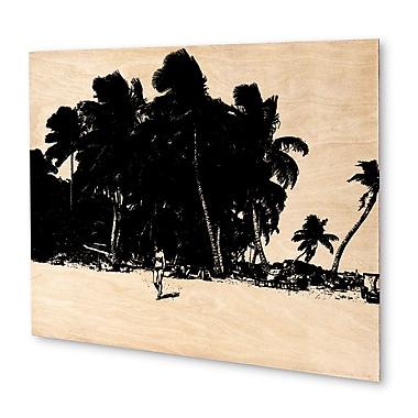 Varick Gallery 'Palm Trees' Graphic Art Print on Wood; 16'' H x 20'' W