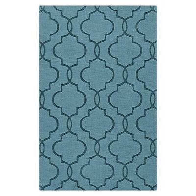 Varick Gallery Vasques Slate Blue Area Rug; 8' x 11'