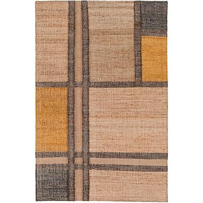 Varick Gallery Vasta Modern Hand-Woven Khaki Area Rug; 2' x 3'