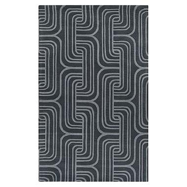 Varick Gallery Vaughan Gray Geometric Wool Area Rug; 8' x 11'