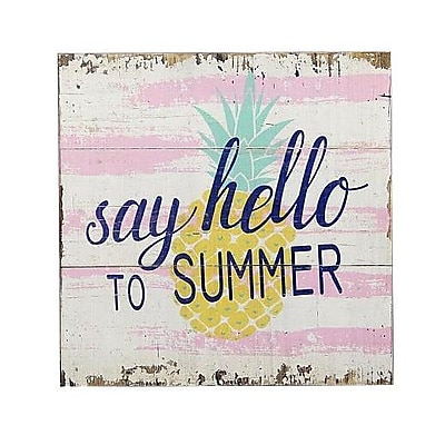 Varick Gallery 'Hello Summer' Textual Art on Wood