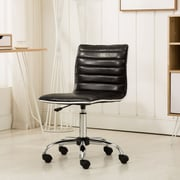 Varick Gallery Shrum Chrome Adjustable Air Lift Office Mid-Back Desk Chair; Black