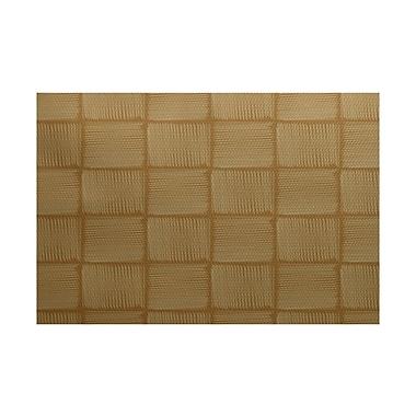 Varick Gallery Ursa Geometric Print Gold Indoor/Outdoor Area Rug; 3' x 5'