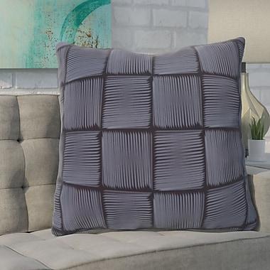 Varick Gallery Urso Geometric Print Throw Pillow; Blue