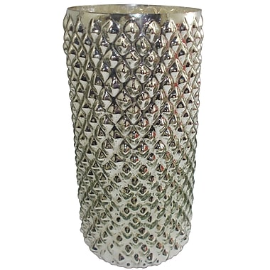 Varick Gallery Contemporary Hand Crafted Glass Vase; 12'' H x 6'' W x 6'' D