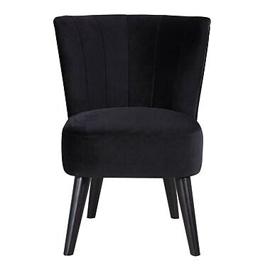Varick Gallery Vallecillo Traditional Living Room Barrel Chair; Black