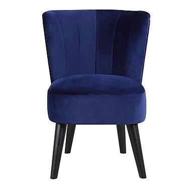 Varick Gallery Vallecillo Traditional Living Room Barrel Chair; Navy