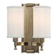 Varick Gallery Valliere 2-Light Wall Sconce; Aged Brass