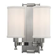 Varick Gallery Valliere 2-Light Wall Sconce; Polished Nickel