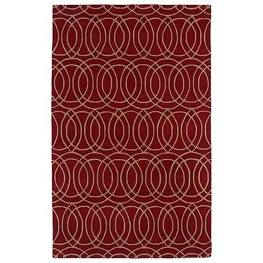 Varick Gallery Vanauken Red Area Rug; 3' x 5'