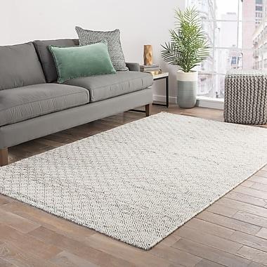 Varick Gallery Vandenberg Brown Tone-on-Tone Area Rug; 4' x 6'