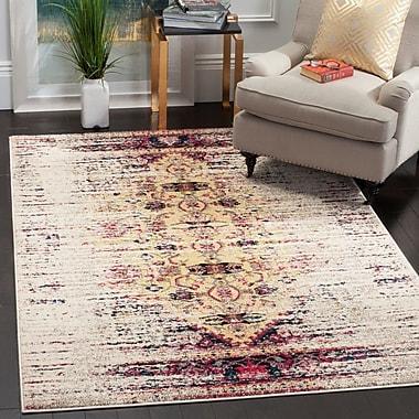 Varick Gallery Vanarsdale Ivory / Pink Area Rug; 8' x 11'