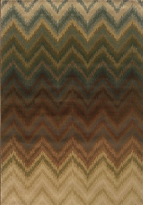 Varick Gallery Vandiver Brown Area Rug; Round 7'8''