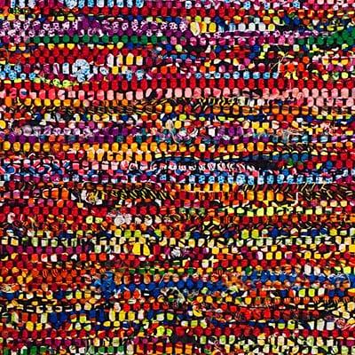 Varick Gallery Shatzer Hand-Woven Cotton Fuchsia Area Rug; Rectangle 2'3'' x 8'