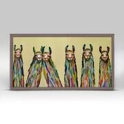 Varick Gallery 'Six Lively Llamas' Framed Acrylic Painting Print on Canvas