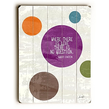 Varick Gallery 'Where There Is Love' Textual Art; 40'' H x 30'' W x 0.75'' D
