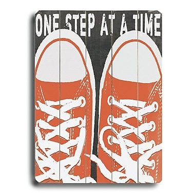 Varick Gallery 'One Step at a Time' Graphic Art Plaque; 34'' H x 25'' W x 1'' D