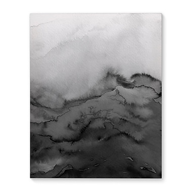 Varick Gallery 'Winter Waves Grayscale - Multi' Graphic Art Print on Canvas; 14'' H x 11'' W x 1'' D
