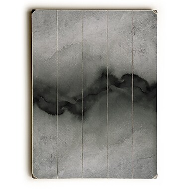 Varick Gallery 'The Vibe' Rectangle Graphic Art Print on Wood in Grayscale; 34'' H x 25'' W
