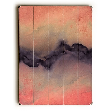 Varick Gallery 'The Vibe' Rectangle Graphic Art Print on Wood in Rose/Gold/Violet; 24'' H x 18'' W