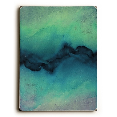 Varick Gallery 'The Vibe' Graphic Art Print on Wood in Indigo/Teal/Green
