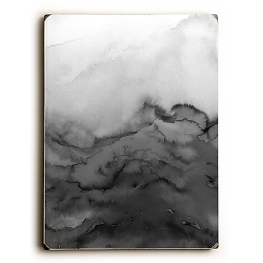 Varick Gallery 'Winter Waves' Graphic Art Print on Wood in Grayscale