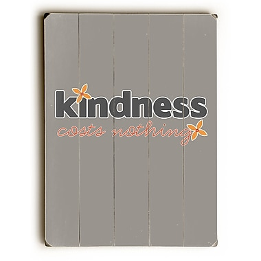 Varick Gallery 'Kindness Costs Nothing' Poster On Wood; 20'' H x 14'' W x 0.75'' D