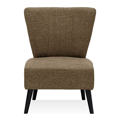 Varick Gallery Veras Modern Fabric Slipper Chair; Brown