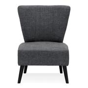 Varick Gallery Veras Modern Fabric Slipper Chair; Dark Gray