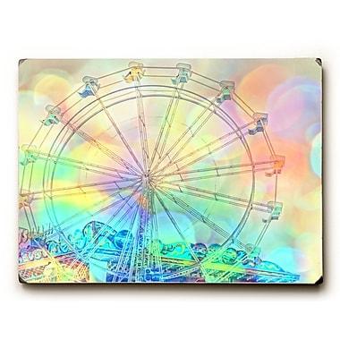 Varick Gallery 'Colorful Ferris Wheel' Wooden Graphic Art; 30'' H x 40'' W