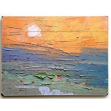 Varick Gallery 'Burnt Sky' Drawing Print on Wood ; 12'' H x 16'' W