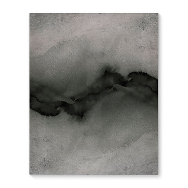 Varick Gallery 'The Vibe' Graphic Art Print on Canvas in Grayscale - Multi; 14'' H x 11'' W x 1'' D