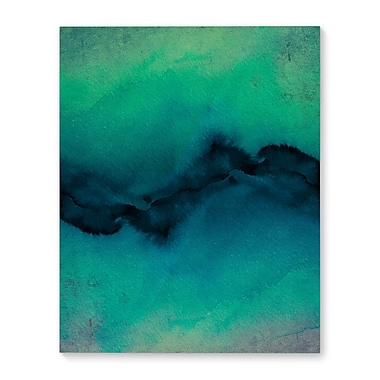 Varick Gallery 'The Vibe' Graphic Art Print on Canvas in Indigo/Teal; 10'' H x 8'' W x 1'' D