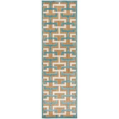 Varick Gallery Vaught Tan Indoor/Outdoor Area Rug; 5' x 7'6''