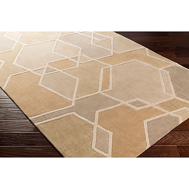 Varick Gallery Vaughan Hand-Tufted Green/Brown Area Rug; Runner 2'6'' x 8'