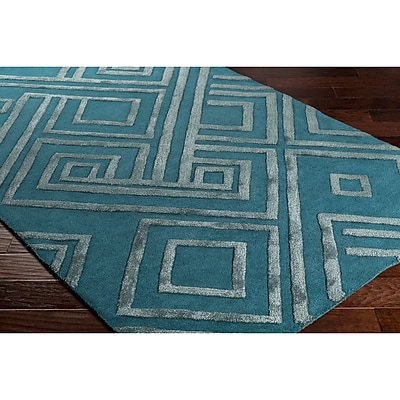 Varick Gallery Vazquez Hand-Tufted Blue Area Rug; 5' x 7'6''