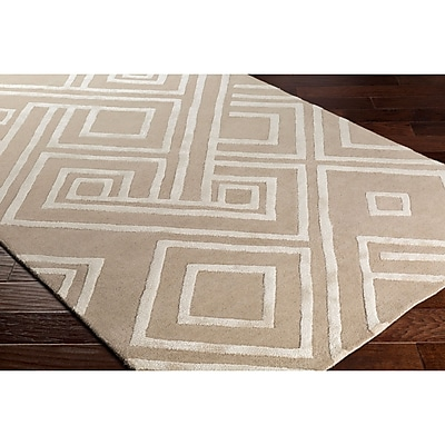 Varick Gallery Vazquez Hand-Tufted Neutral Area Rug; 5' x 7'6''