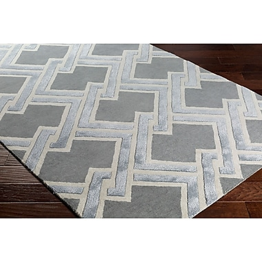 Varick Gallery Vazquez Hand-Tufted Gray Area Rug; 2' x 3'
