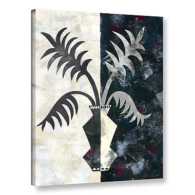 Varick Gallery Pretty Palms II Neutral' Graphic Art on Wrapped Canvas; 48'' H x 36'' W x 2'' D