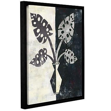 Varick Gallery Pretty Palms III Neutral' Framed Graphic Art; 32'' H x 24'' W x 2'' D