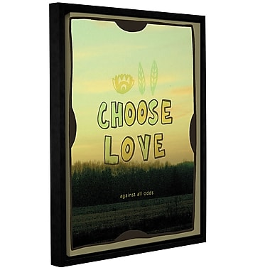Varick Gallery Choose Love Framed Graphic Art on Gallery Wrapped Canvas; 08'' x 10''