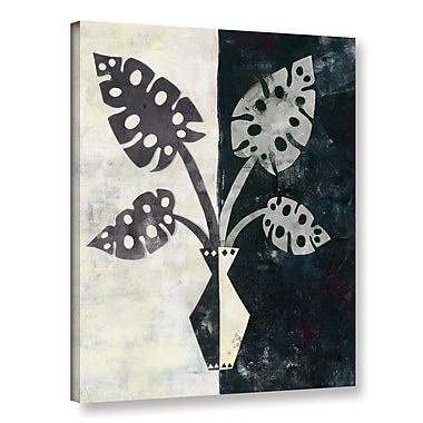 Varick Gallery Pretty Palms III Neutral' Graphic Art on Wrapped Canvas; 32'' H x 24'' W x 2'' D