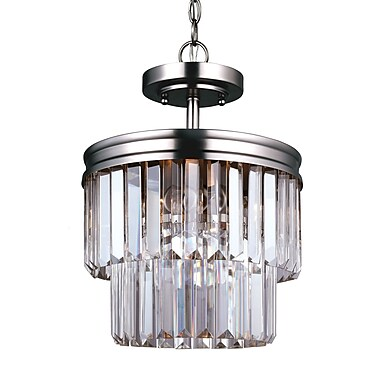 Willa Arlo Interiors Domenique 2-Light Metal Semi Flush Mount
