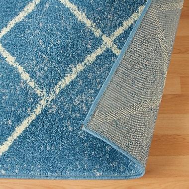 Varick Gallery Verity Lattice Blue Area Rug; 8' x 10'