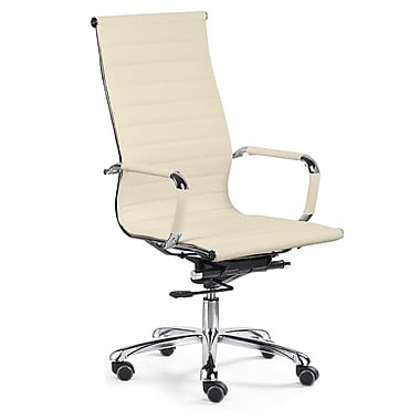 Varick Gallery Volpe High-Back Executive Chair; Cream