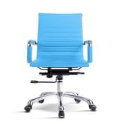 Varick Gallery Volpe Mid-Back Desk Chair; Aqua