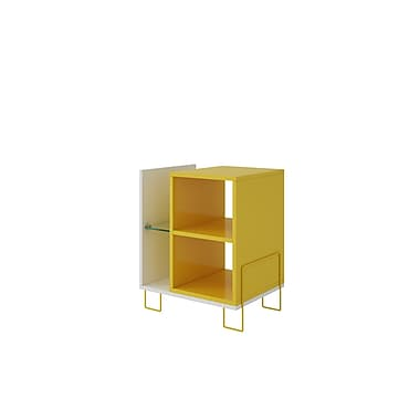 Varick Gallery Vuong 21'' Accent Shelf Bookcase; White/Yellow